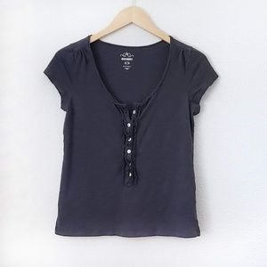 3/$20 Old Navy Button-Front Cap Sleeve Tee